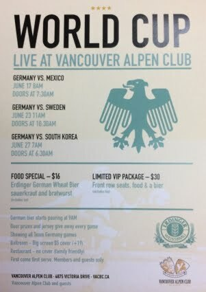 World Cup LIVE At The Vancouver Alpen Club