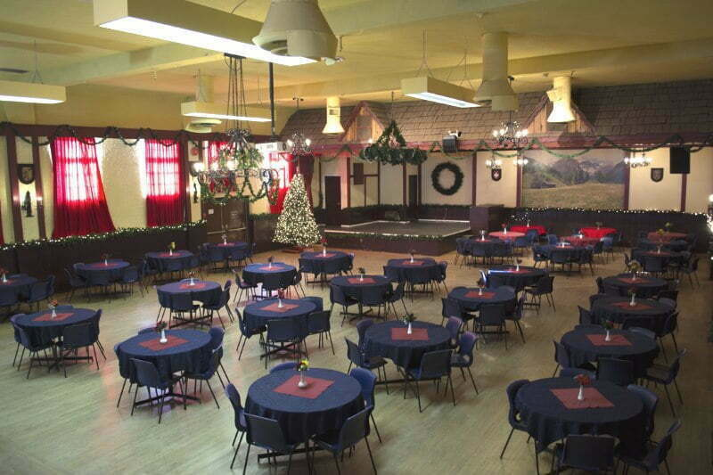 Vancouver Alpen Club · Event Location · Function Room · Ballroom · ideal for big events, dances, weddings · room setup overview