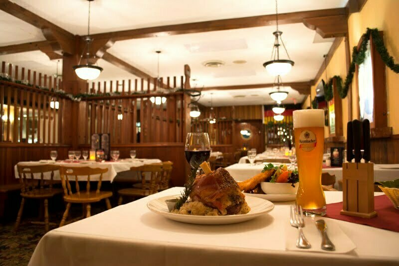 Vancouver Alpen Club · Event Location · Function Room · German Restaurant · Deutsches Haus · well-laid table