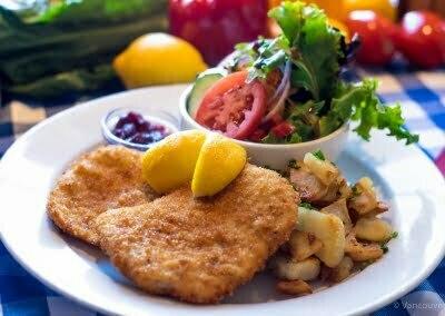 Vancouver Alpen Club · Deutsches Haus Restaurant · German Food · Wiener Schnitzel Vienna