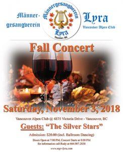MGV Lyra - Fall Concert (November 3, 2018) @ Vancouver Alpen Club (Ballroom) | Vancouver | British Columbia | Canada
