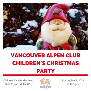 Children's Christmas Party @ Vancouver Alpen Club (Jägerstube) | Vancouver | British Columbia | Canada