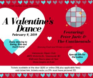 A Valentine's Dance @ Vancouver Alpen Club (Ballroom) | Vancouver | British Columbia | Canada
