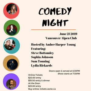 Comedy Night @ The Vancouver Alpen Club