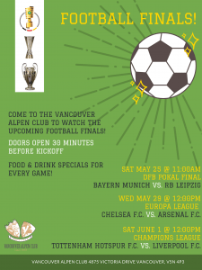 Football League Finals @ Vancouver Alpen Club | Vancouver | British Columbia | Canada