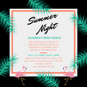 Summer Night Dance @ Vancouver Alpen Club | Vancouver | British Columbia | Canada