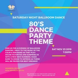 November Ballroom Dance @ The Vancouver Alpen Club