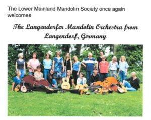 Landendorfer Mandolin Orchestra Concert @ Vancouver Alpen Club
