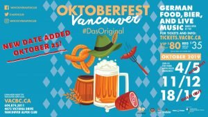 New Date Added for Oktoberfest 2019 - October 25th! @ Vancouver Alpen Club
