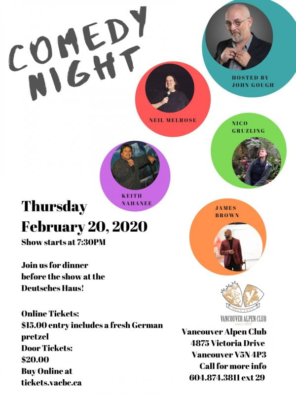 Comedy night Feb 2020