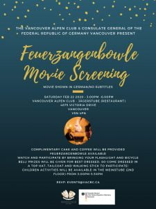 Feurzangenbowle Movie Screening @ The Vancouver Alpen Club